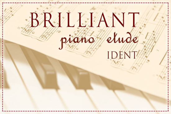 Brilliant Piano Etude Ident - Classical Royalty Free Music by SoundRoseStudio
