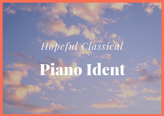Hopeful Classical Piano Ident - Royalty Free Music by SoundRoseStudio