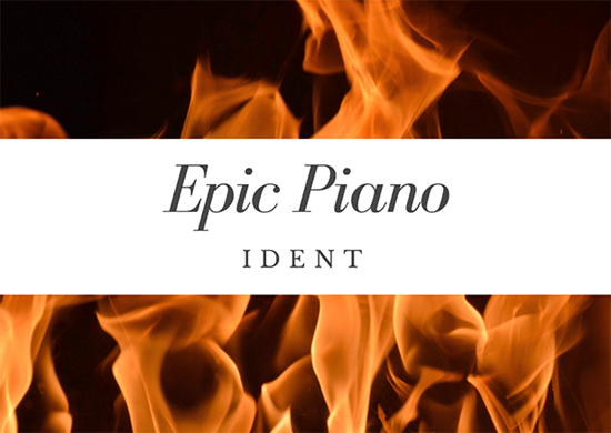 Epic Piano Ident - Royalty Free Music by SoundRoseStudio